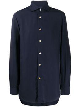 Kiton рубашка с заостренным воротником UCCH072090300A