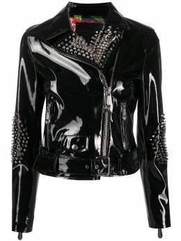 Philipp Plein байкерская куртка с заклепками P20CWRB0790PTE003N
