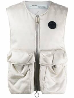 Off-White жилет с карманами и логотипом OMKI012S20G490200600