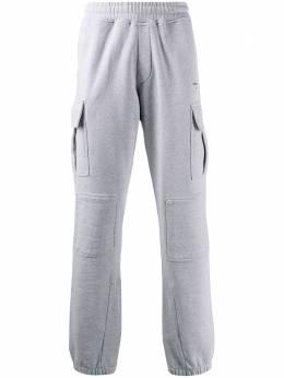 Off-White спортивные брюки с накладными карманами OMCH017S20D250180710