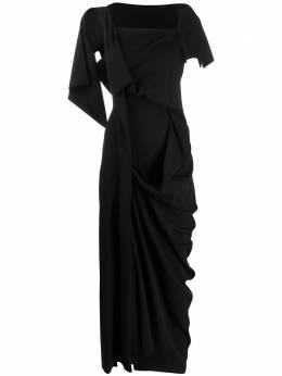 Yohji Yamamoto платье миди со сборками FND15100