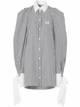 Burberry платье-рубашка в полоску 4564367