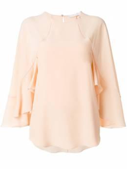 Chloe блузка с оборками на рукавах CHC18SHT23004