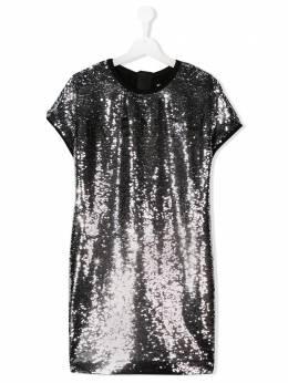 Givenchy Kids платье-трапеция с вышивкой H12120