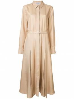 Gabriela Hearst платье-рубашка с поясом S19GH440