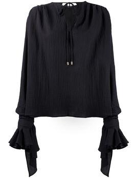 Balmain креповая блузка TF12666C230