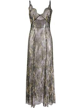 Gilda & Pearl длинное платье-комбинация Melitza 1913BLACK