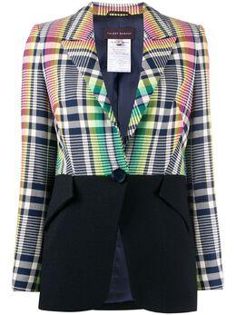 Talbot Runhof приталенный пиджак с контрастной вставкой BURCH2FR15