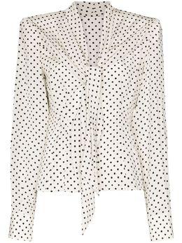 Dolce&Gabbana блузка в горох F5L52TFS14L