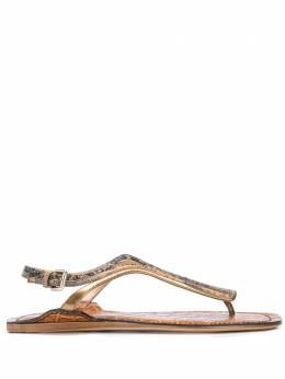 Chloe сандалии с тиснением под кожу крокодила CHC20S295K826O375W