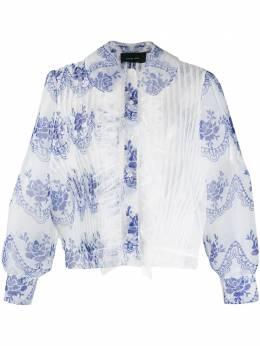 Simone Rocha прозрачная блузка асимметричного кроя 35780368