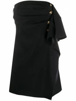 Versace короткое платье с оборками A86569A222813