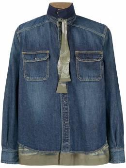 Sacai двухслойная джинсовая рубашка 2002267M