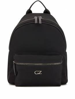 Giuseppe Zanotti Design рюкзак на молнии с металлическим логотипом EBU0005001