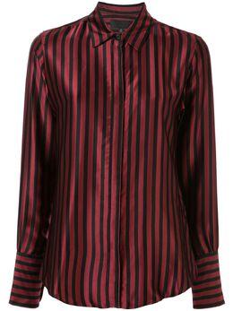 Nili Lotan атласная рубашка в полоску 10303W133