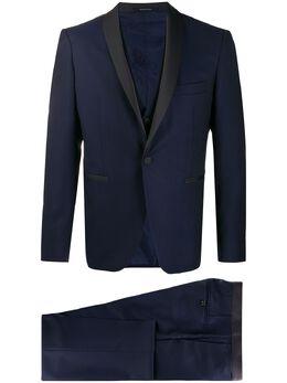 Tagliatore костюм-тройка с контрастными лацканами EFBR18A0106UEA301