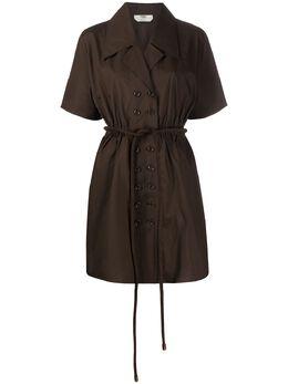 Fendi двубортное платье-рубашка FDA799A5YM