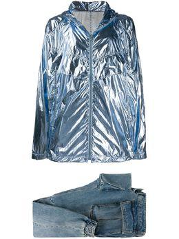 Juun.J комплект из блестящей куртки и зауженных джинсов JC0221H8DP