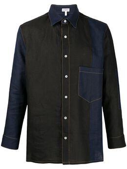 Loewe рубашка с контрастной строчкой и вставками H2109051CO