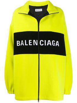 Balenciaga куртка оверсайз на молнии с логотипом 571248TGU08