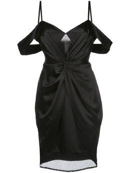 Fleur Du Mal платье с драпировкой и сетчатыми вставками DR0303100