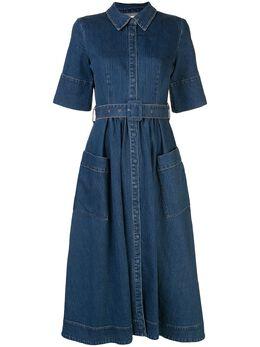 Co джинсовое платье с поясом 4474SEDQESSN