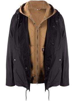 Burberry двухслойная куртка с капюшоном 8023185