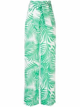 Sara Battaglia брюки с завышенной талией и принтом SB300304S0