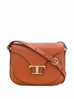 Tod's сумка через плечо с Т-образной пряжкой XBWTSIC0100RORG807