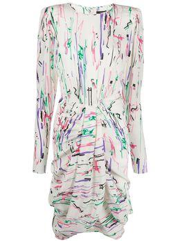 Isabel Marant платье миди с абстрактным принтом и драпировкой RO159520P020I