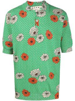 Marni рубашка-поло с цветочным принтом POMG0026Q0S17313
