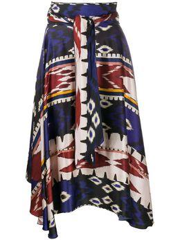 Forte_Forte юбка с завышенной талией и принтом 7309MYSKIRT