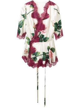 Dolce&Gabbana блузка с принтом F7U40TFSAZE