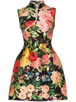 Richard Quinn платье мини Qipao с цветочным принтом RQSS2012