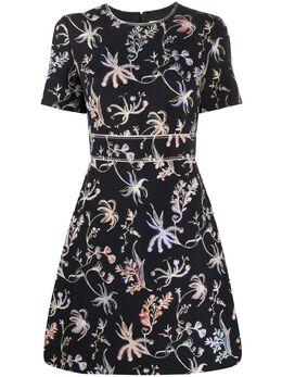 Peter Pilotto платье мини с цветочным принтом 20PSDR231021NVY
