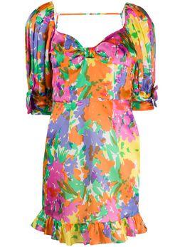 Alessandra Rich платье мини с цветочным принтом FAB2067F2796