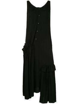Yohji Yamamoto платье асимметричного кроя с драпировкой NND10209