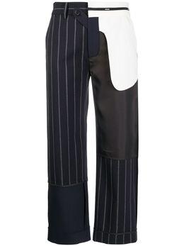 Monse брюки в технике пэчворк MR200719DOT