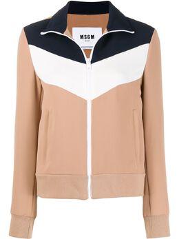 MSGM куртка на молнии со вставками 2841MDH04Y207115