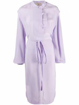 Maison Flaneur платье миди с воротником-стойкой 20SMDDR100TP125