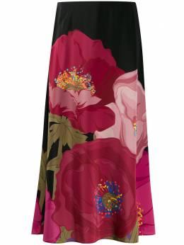 Valentino пышная юбка с принтом TB3RA5I25AC