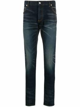 Balmain джинсы кроя слим с эффектом потертости RH15254D008