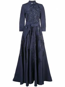 Carolina Herrera декорированное платье F1911E701SFA