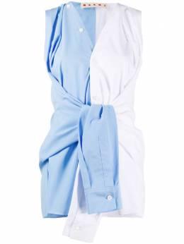 Marni блузка без рукавов с завязками TTMA011Q0TCW64