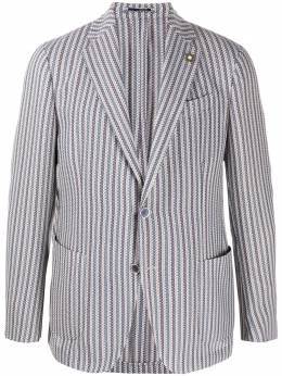 Lardini полосатый пиджак EI934AEEIA54523