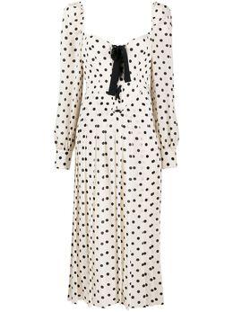 Alessandra Rich платье в горох FAB2126F2818