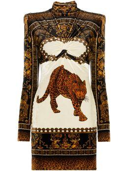 Versace приталенное платье мини с принтом A80786A227398