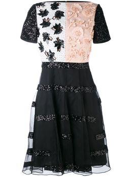 Talbot Runhof приталенное платье с аппликацией MODERNIST1NS84999