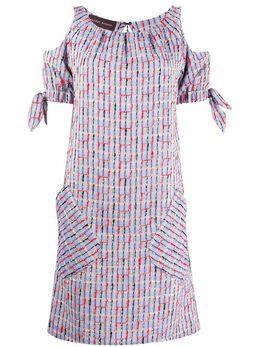 Talbot Runhof платье миди с короткими рукавами KOLABO6FL10