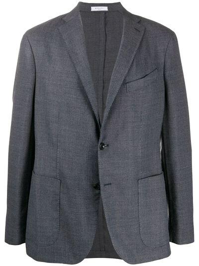 Boglioli однобортный пиджак с накладными карманами N2902JBLC404 - 1